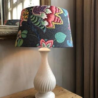 Oude Franse tafellamp porselein