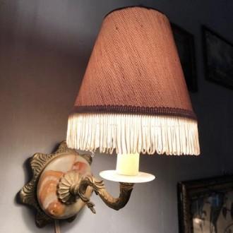 Onyx messing wandlampje | Verkocht