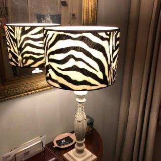 Nieuwe lampenkap met zebra print