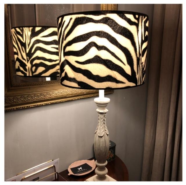 lampenkap met zebraprint