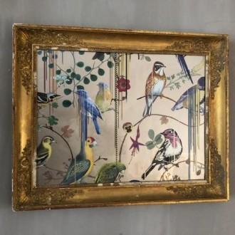 Oude gouden lijst met Birds van Christian Lacroix | Verkocht