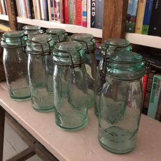 Oude Franse glazen weckpotten van la Lorraine