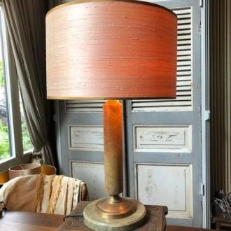 Art deco tafellamp met nieuwe zijde kap | Verkocht