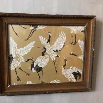 Antieke lijst met vogels