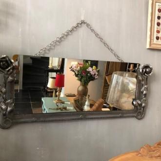 Brocante spiegel met bloemen