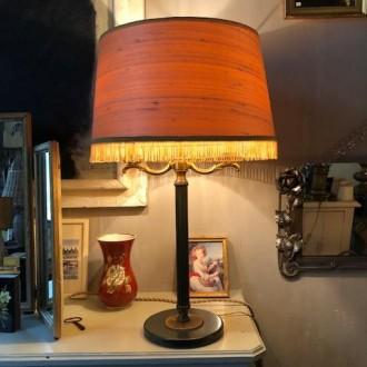 Buillotte tafellamp met nieuwe zijde kap